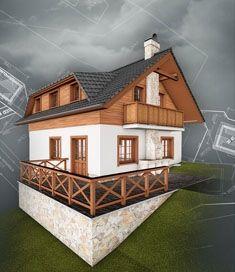 Cottage, architecture by Artlandia