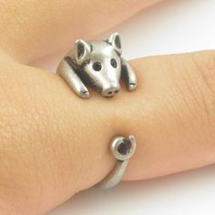 #KejaJewelry on Artfire   #ring                     #Lucky #Silver #Wrap #Ring                          Lucky Silver Pig Wrap Ring                                                    http://www.seapai.com/product.aspx?PID=763480