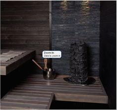 Dark sauna by Cello Portable Sauna, Finnish Sauna, Saunas, Natural Solutions, My Dream Home, Mudroom, Finland, Outdoor Spaces, Dark Grey