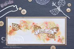 Artisan Blog Hop - Wald der Worte Dankeskarte • Stempelwiese