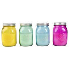 Citronella-Kerze im Glas ver.Farben