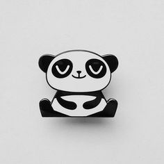 Brand new!! Happy Panda enamel pin by Peskimo. We have a few new items from Peskimo on the website right now! Find them at http://ift.tt/mZusDN #peskimo #somagallery #panda #enamelpins #pingame #pingamestrong #happypanda #makersgonnamake #makersmovement #shopindie
