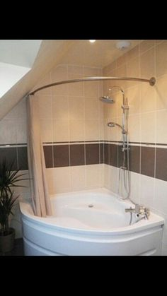 corner tub shower - like the idea of new shower head no new pipes to ...