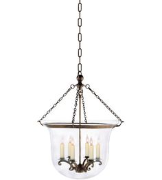 Visual Comfort CHC2110AB E.F. Chapman Country 6 Light 21 inch Antique-Burnished Brass Foyer Pendant Ceiling Light in Antique Burnished Brass photo