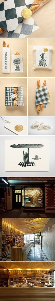 Boulangerie Baker D. Chirico. Another yummy #identity #packaging #branding #marketing story. PD