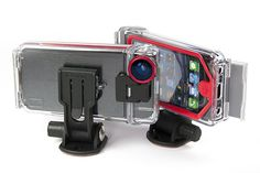 With the Optrix XD5 Action Camera Case for iPhone 5/5s, you'll be able to take videos like the pros! It includes a 175° wide angle, optical-grade glass lens, waterproof and impact-resistant unibody housing, and a camera mount connector.