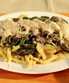 Chicken Florentine With Pasta from The Crockin' Girls