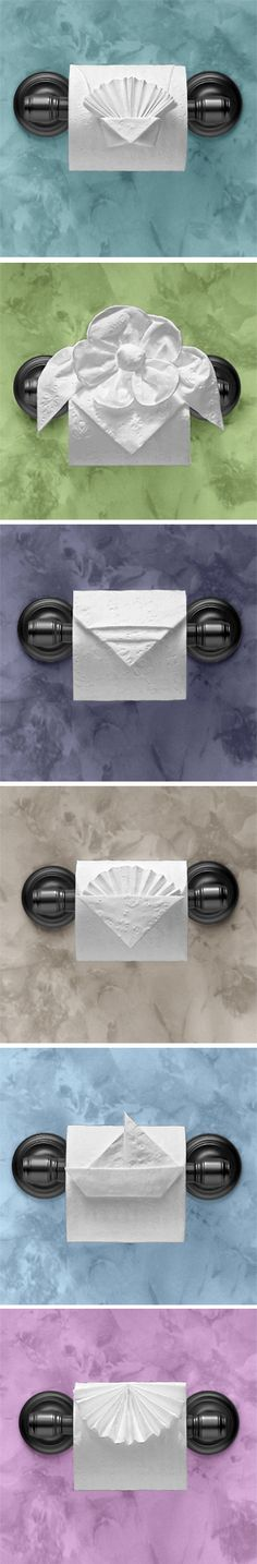 Toilet paper origami..would be cool to learn