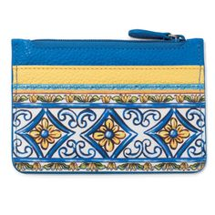 Stash your cards stylishly in this lemon-fresh card case. Includes a zippered pocket for coins, too. With exclusive artwork by our Bella Limone Collection designer, you'll feel like you've landed upon Italy's Amalfi coast!