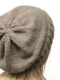 DK Eco Slouchy Hat Knitting Pattern PDF by haloopajoop on Etsy, $5.00