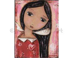 Serenidad Angel impresión de pintura por FLOR por FlorLarios