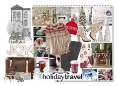 """Headed Home For The Holidays"" by maggiecakes ❤ liked on Polyvore featuring Disney, Kaiser, Louis Vuitton, Free People, Royce Leather, Sferra, Michael Antonio, Threshold, Madewell and maurices"