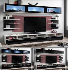 +++ CRYSTAL -TV CABINETS / TV STANDS / ENTERTAINMENT UNIT / TV UNIT / HIGH GLOSS