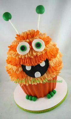 Monster giant cupcake