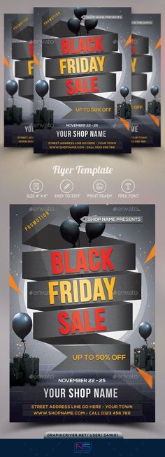 Buy Black Friday Flyer by on GraphicRiver. Black Friday Flyer Template This flyer was designed to promo your next events: Black Friday and more other special ev. Design Set, Flyer Design, Print Design, Promotional Flyers, Ber, Print Templates, Business Flyer, Flyer Template, Special Events