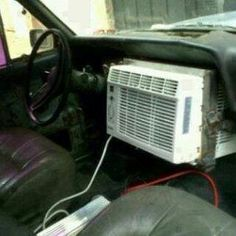 Wondering what happened to the air conditioner!