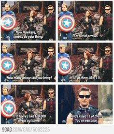 Funny pictures about And That's The Way Hawkeye Rolls. Oh, and cool pics about And That's The Way Hawkeye Rolls. Also, And That's The Way Hawkeye Rolls photos. Marvel Dc, Films Marvel, Funny Marvel Memes, Dc Memes, Marvel Jokes, Marvel Comics, The Avengers, Avengers Memes, Hawkeye Avengers