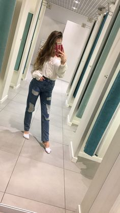 #white #shirt #mom #jeans #s&s2018