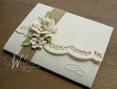wedding card by Welmoed.... WOW!... beautiful... see blog post for more photos and the embossed backside!