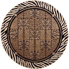 @Overstock.com - Flora Contemporary Beige Area Rug (5'3 Round) - Show off your wild side with this bold beige area rug featuring an alternating pattern of several distinct animal prints. Constructed with quality polypropylene, this durable, border-style rug will maintain beautiful for years to come.  http://www.overstock.com/Home-Garden/Flora-Contemporary-Beige-Area-Rug-53-Round/7990937/product.html?CID=214117 $84.27