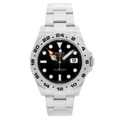 Rolex Explorer II Men's Stainless Steel Watch 216570 Black Dial with Date Pre Owned Rolex, Pre Owned Watches, Rolex Explorer Ii, Stainless Steel Rolex, Luxury Jewelry Brands, Silver Water, Rolex Watches For Men, Casio Watch, Bracelet Watch