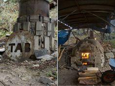 Taro Tabuchis handmade wood-fired kilns, Japan