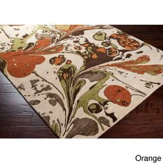 Hand Tufted Ashton Abstract New Zealand Wool Area Rug (8' x 11') (Orange-(8' x 11')), Brown, Size 8' x 11'