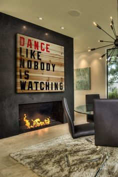 Dance Like Nobody Is Watching Brown Distressed Wood Wall Art by Jen Lee Art on @HauteLook
