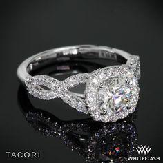 Tacori Petite Crescent Twisted Diamond Engagement Ring.