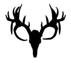 deer skull vinyl sticker deer skulls cricut and silhouettes rh pinterest com buck deer skull clip art deer skull mount clip art