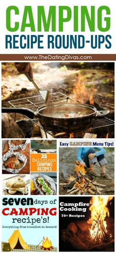 Tips & Ideas Camping Recipe Round-ups and lots of websites about camping.Camping Recipe Round-ups and lots of websites about camping. Best Camping Meals, Camping Menu, Camping Guide, Camping Checklist, Go Camping, Camping Hacks, Outdoor Camping, Camping Recipes, Winter Camping