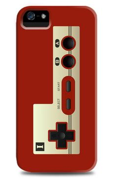 COOL ! Famicom Controlled iPhone 5 Case in red. Available for Blackberry and Samsung smartphones. http://www.zocko.com/z/JH8kB