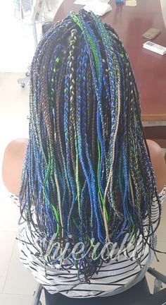 #bluehair #greenhair #braidshair #greenandblurbraids