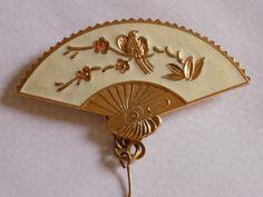 ITEM  118 Vintage Oriental style enamel and gold tone by joegems66