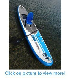 California Board Company 132 Current Inflatable Stand Up Paddle Board, Blue/White/Black, 11-Feet