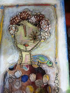 Jill Denton Textile Artist More 376050637620607279 Art Rupestre, Face Collage, Portrait Embroidery, Free Motion Embroidery, Crewel Embroidery, Poster Art, Textile Artists, Collage Artists, Collages