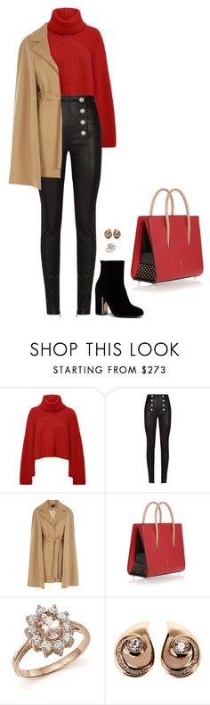 """""""Sem título #3309"""" by mprocedi ❤ liked on Polyvore featuring Rosetta Getty, Balmain, Coast, Christian Louboutin, Bloomingdale's and Christian Dior"""
