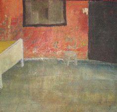 Acrilico / madera La habitacion roja Max Albarran