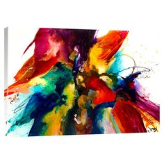 Lend a touch of cosmopolitan style to your decor with this eye-catching canvas print, showcasing a bold abstract motif in a vibrant palette....