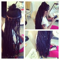 Chunky Senegalese Twists via Napturally Rooted on Facebook