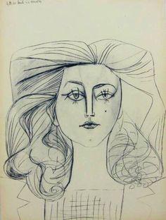 """Pablo Picasso, """"Portrait of Françoise Gilot"""""""