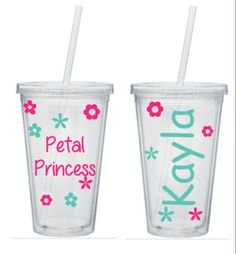 Hey, I found this really awesome Etsy listing at https://www.etsy.com/listing/240747225/flower-girl-tumbler-petal-princess