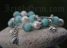"""Blue Lagoon"" Blue Lagoon, Provence, Old Things, Beaded Bracelets, Gemstones, Pearls, Earrings, Collection, Jewelry"