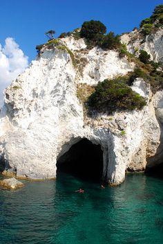 Cave off the Mediterranean sea