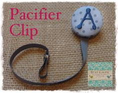 A thru Z Gray and Blue Monogrammed Paci by busylizzieboutique, $7.95
