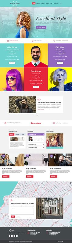 Hot Hair is #responsive #Joomla #template for #hair salons for ladies and gentleman and for houses of beauty.