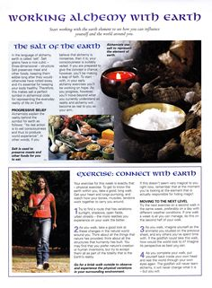 Elements Earth: Working Alchemy with #Earth.