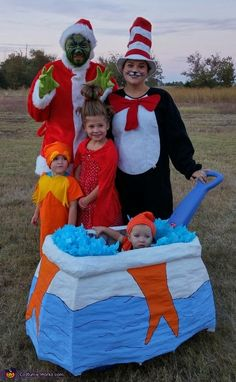 Brandi: We decided last Halloween that we wanted to be Dr Suess characters this year, our 7 year old (6 at the time) mentioned she wanted to be Cindy Lou Who...