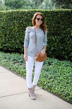 7d8eb4929849a splendid thermal off shoulder top in gray on design darling Dark Denim Jeans