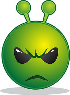 Free Image on Pixabay - Alien, Unhappy, Emoticon, Green Smiley Emoji, Public Domain, More Emojis, Chocolate Drawing, Emotion Faces, Angry Face, Funny Emoji, Good Morning Good Night, Funny Stickers